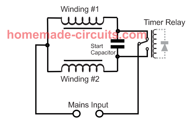 washing machine motor agitator timer circuit  homemade