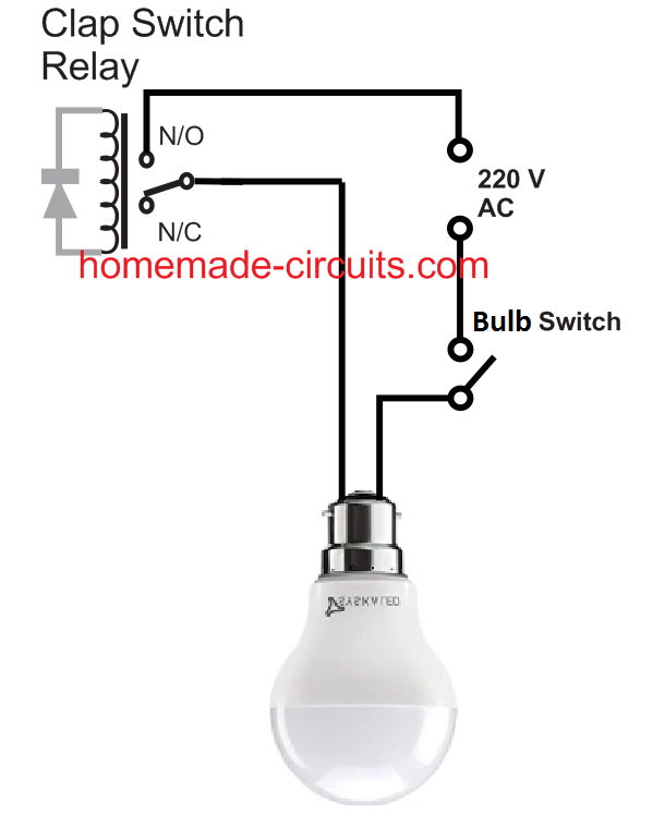 Clap switch with bulb light ON OFF