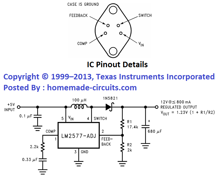 3.7V to 5V boost circuit