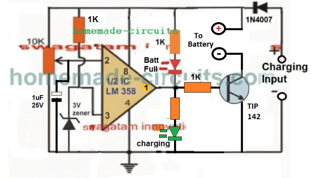 lead acid battery charger without relay