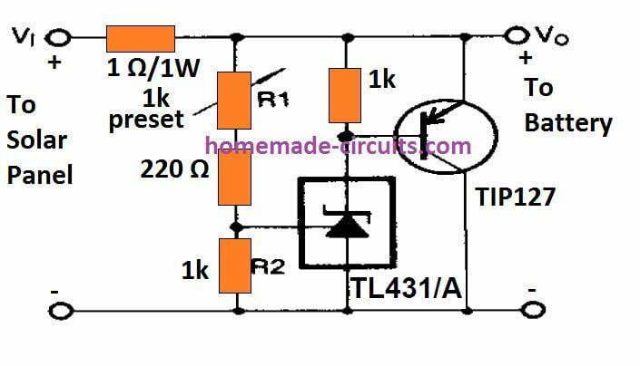 solar regulator shunt type for charging Li-ion battery