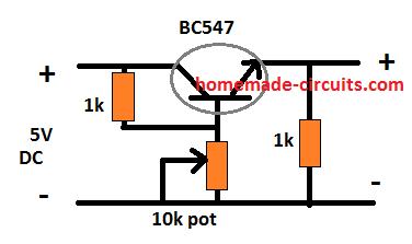 5 V to 4.2 V converter circuit