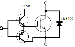 IGBT gate drive using NPN/PNP BJTs