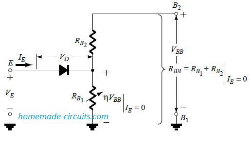 UJT equivalent circuit.