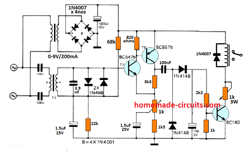 [DIAGRAM_5FD]  Remote Control using Mains Power Line Communication | Homemade Circuit  Projects | Wiring Diagram Receiver And Emitter In A Plc |  | Homemade Circuit Projects
