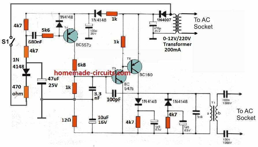Remote Control using Mains Power Line Communication | Homemade Circuit  ProjectsHomemade Circuit Projects