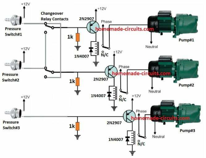Pressure Switch Water Pump Controller Circuit | Homemade Circuit Projects | Pump Pressure Control Switch Wiring Diagram |  | Homemade Circuit