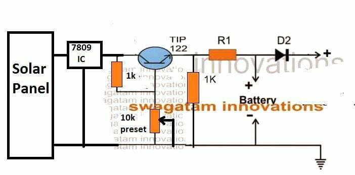 solar water fountain with charger circuit