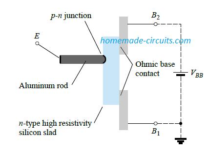 Unijunction transistor (UJT): basic construction