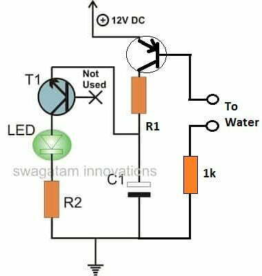 water activated LED flasher circuit