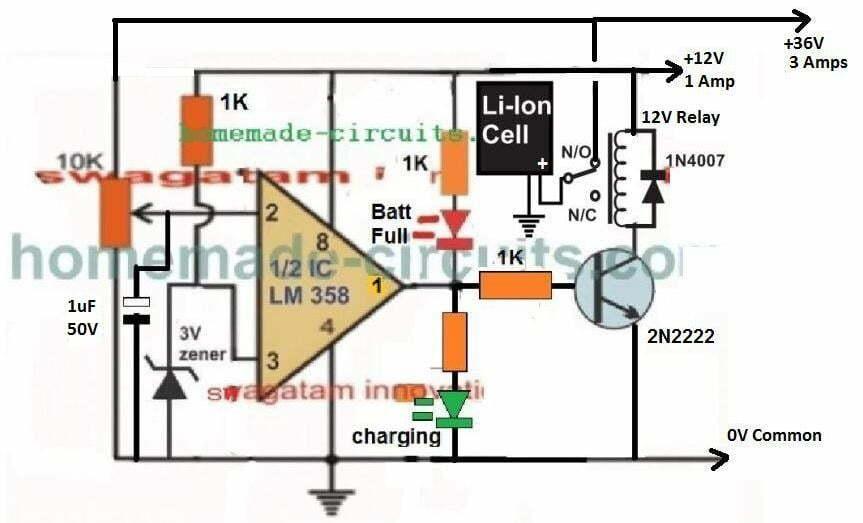 36 V Li-Ion 10 amp charger circuit