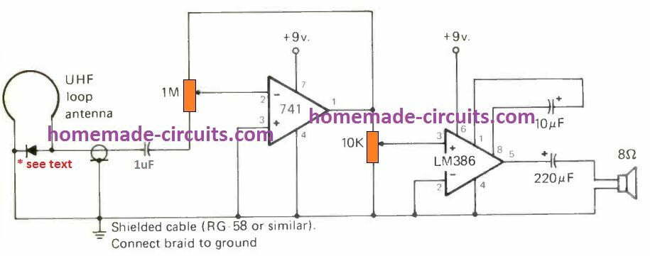 simple UHF SHF Ghz receiver circuit
