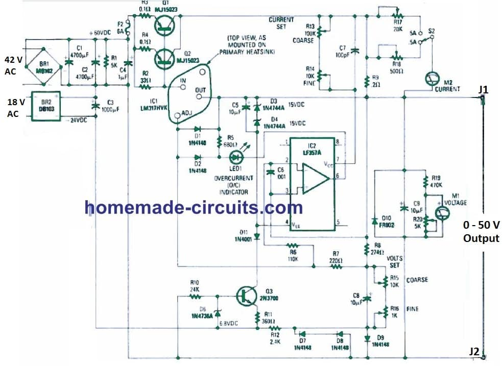 laboratory power supply circuit