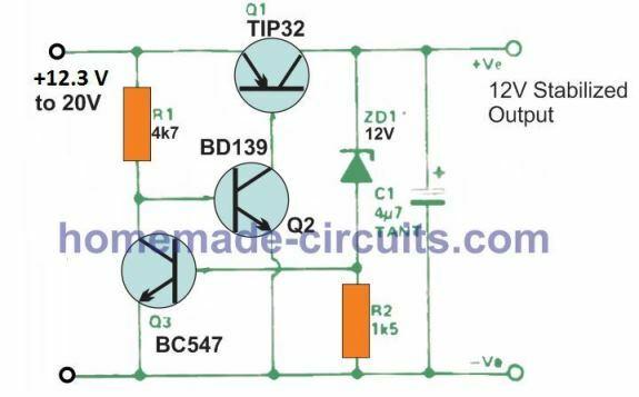 12 V LDO circuit