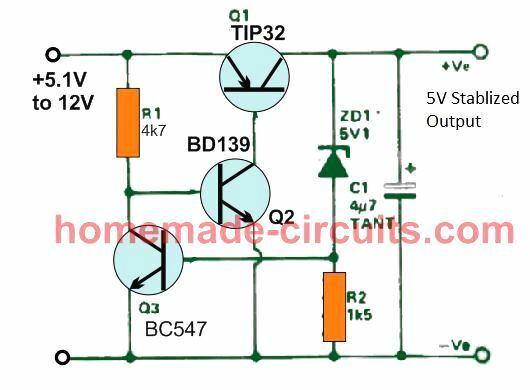 5 V LDO circuit