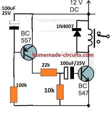monostable delay usig transistors