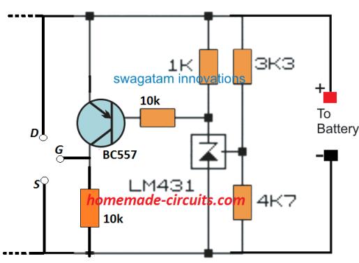 N channel MOSFET based shunt regulator