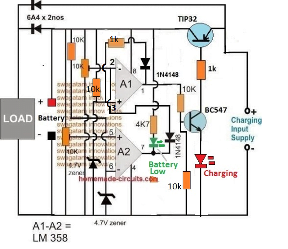 op amp transistor solid-state battery cut off
