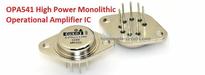 OPA541 High Power Monolithic Operational Amplifier