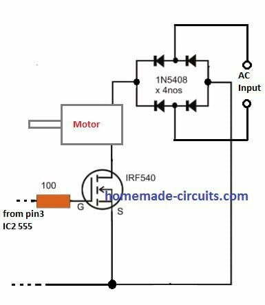 using MOSFET soft start with AC load through bridge rectifier