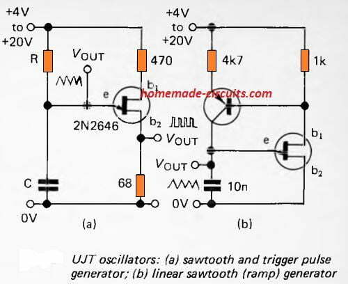 UJT based function generator circuit
