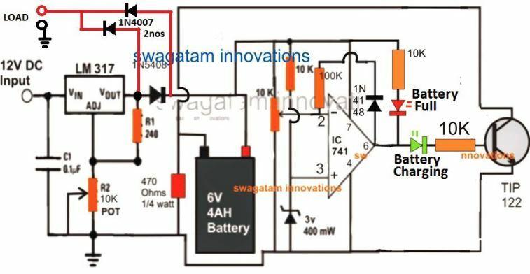 6 V Dc UPS circuit