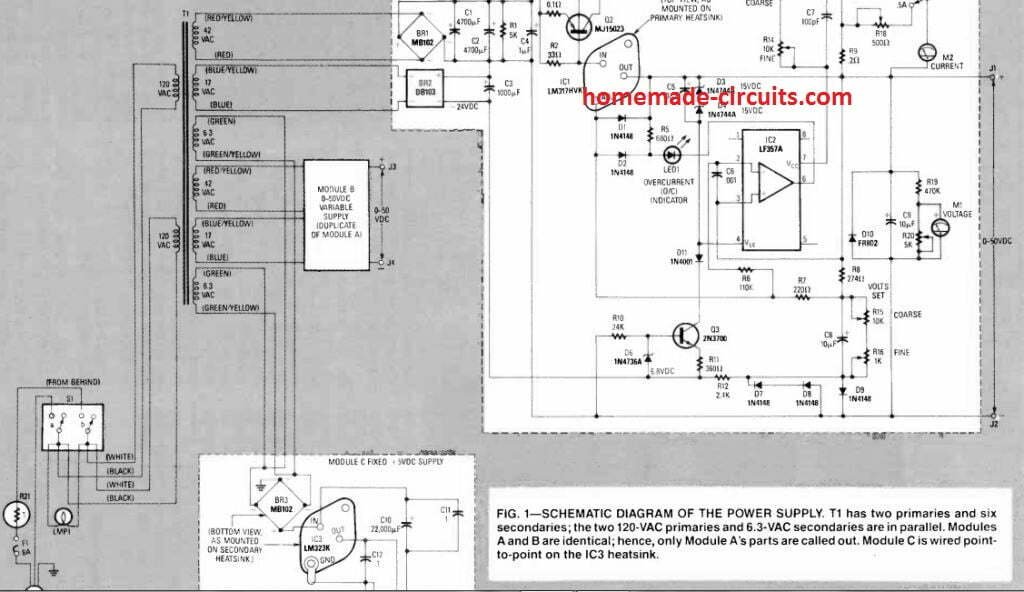 full design for laboratory power supply circuit