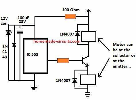IC back emf suppressor