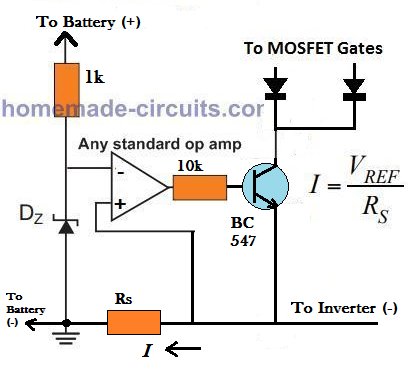 op amp current limiter circuit
