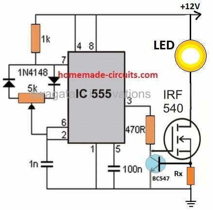 PWM light dimmer for car headlight
