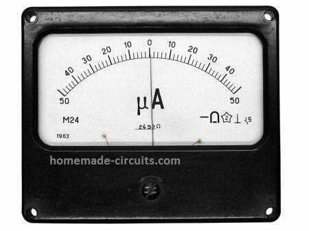 50 µ ammeter center 0 type