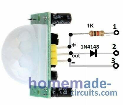 PIR pinout for parallel connection