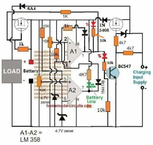 mosfet based automatic li-ion chargercircuit