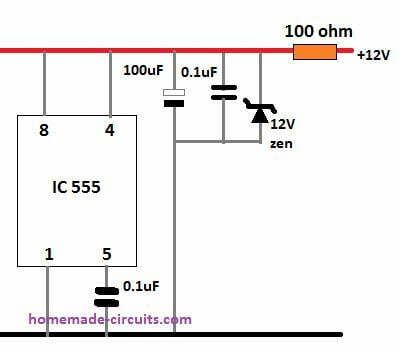 IC protection snubber circuit against moroe back emf transient