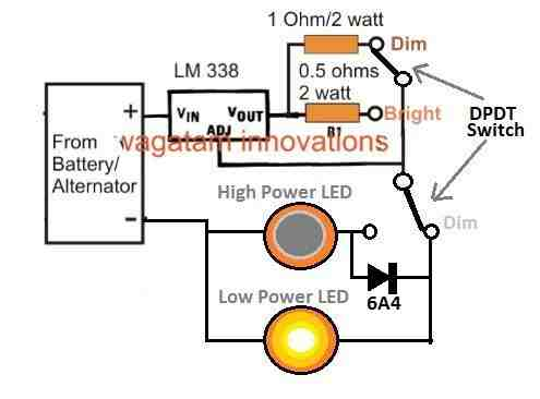 select curent limit for COB headlight