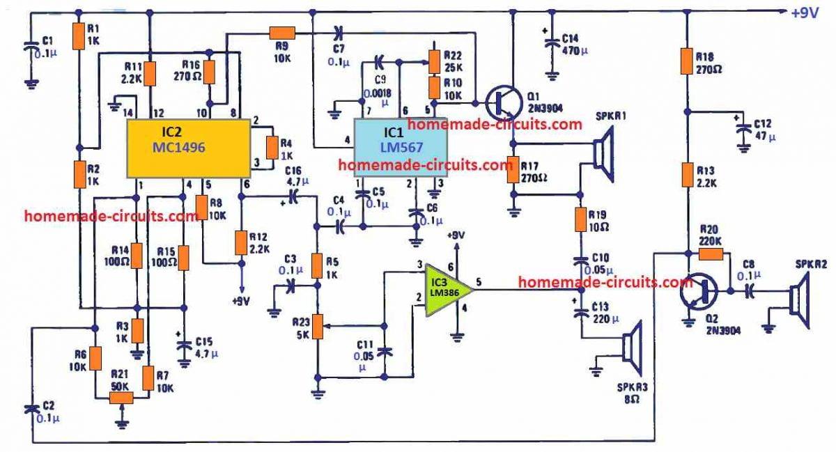 motion sensor circuit using doppler effect