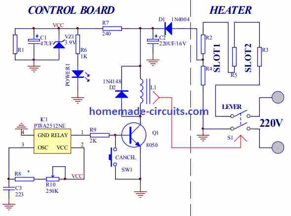 original toaster circuit diagram