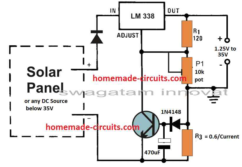 LM338 slow start current limit trigger circuit