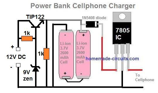power bank charger circuit