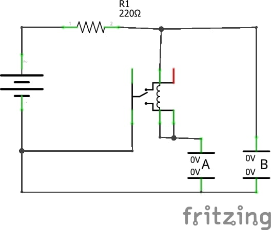 model train relay