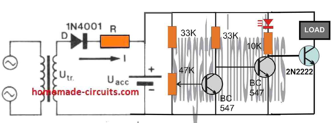Ni-Cd over discharge protector circuit