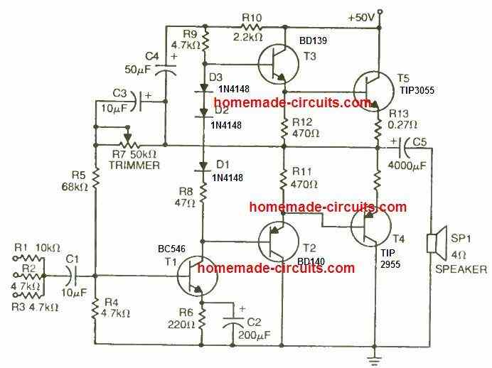 50 watt transistor amplifier