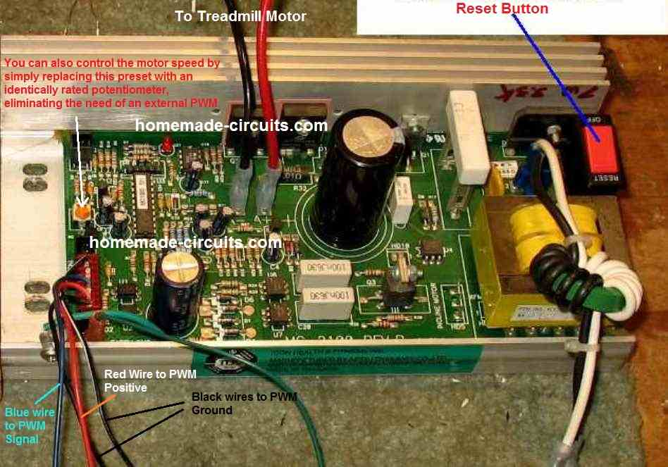 MC1200 wiring details with external PWM and replacing preset with potentiometer