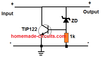 windmill alternator transistor shunt circuit