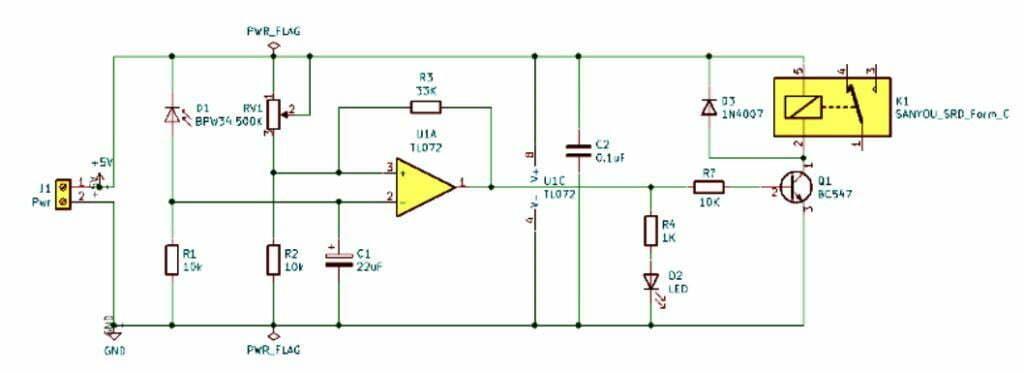 photodiode relay circuit