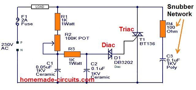 how to add a snubber circuit to a triac