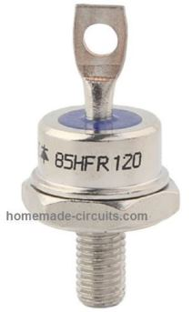 100 amp stud type SCR