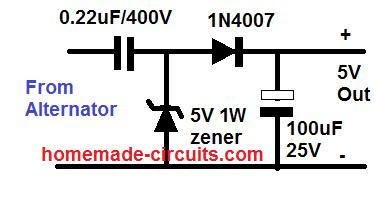 DC 5V from bike alternator