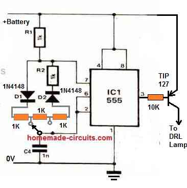 DRL PWM illumination control