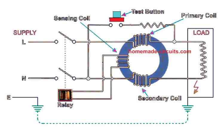 RCCB circuit diagram